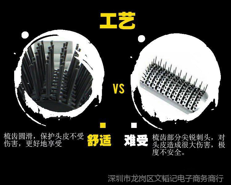 排骨梳血水清蒸家用工具专用吹头发蓬松男士抓卷发梳子要煮掉排骨吗图片