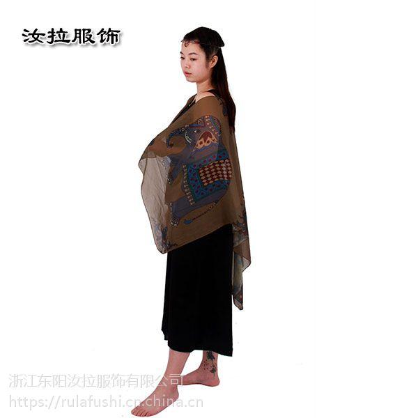 义乌围巾厂,电脑数码印花围巾厂汝拉服饰 提供围巾定制服务