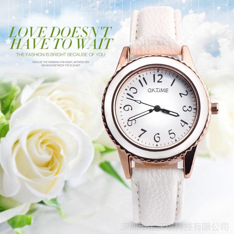OKTIME新款简约女士石英表小表盘女表潮流时尚学生女生手表女式