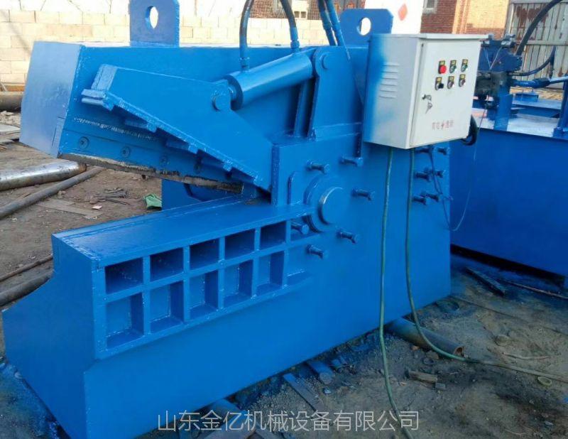 带输送带鳄鱼剪切机250吨1.2米剪口废铁剪切机 山东金亿定做龙门式液压切断机