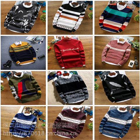 新款男装羊毛衫 年轻男士韩版毛衣 外贸库存男装杂款毛衫工厂直销