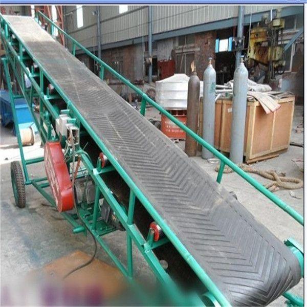 加护栏纸箱输送机 成箱货物装车皮带机 装货柜车输送机
