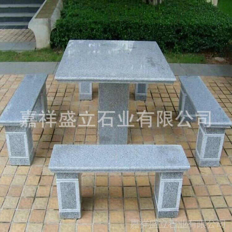 供应家用长条石凳子 公园休息石椅子 条形户外石雕坐凳