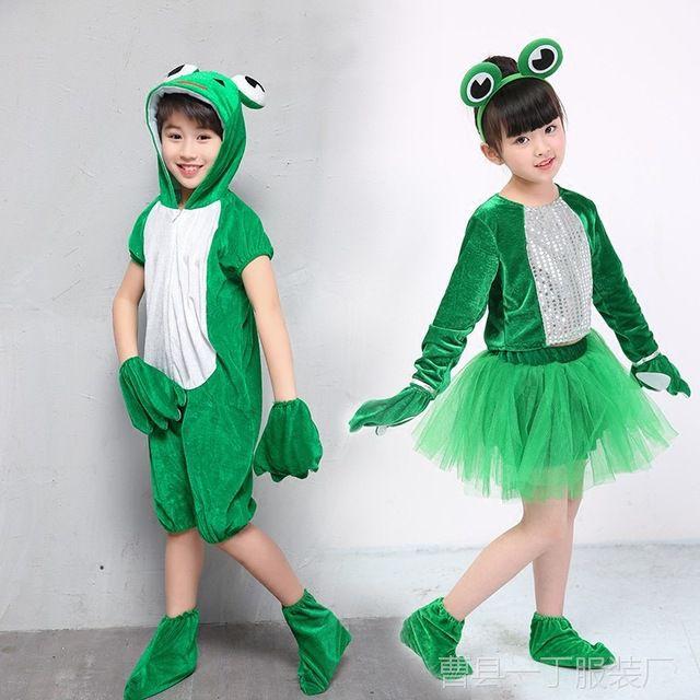 幼儿园六一连体小孩演出服儿童小蝌蚪教学动物zc青蛙sppt图片