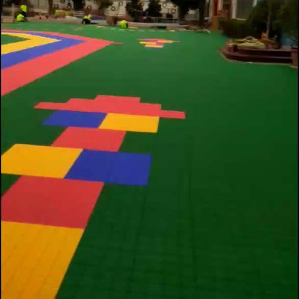 深圳悬浮地板_安装施工视频_宝安区怀德第二幼儿园悬浮地板安装