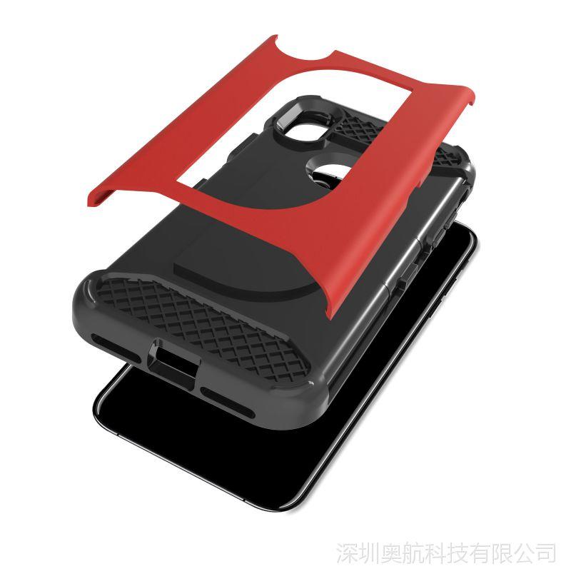 Iphone X 皮革油  防摔手机套