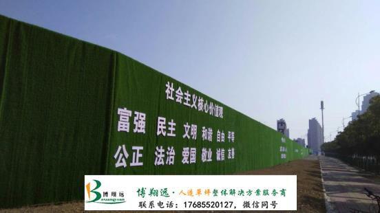 合肥房产项目围墙草坪