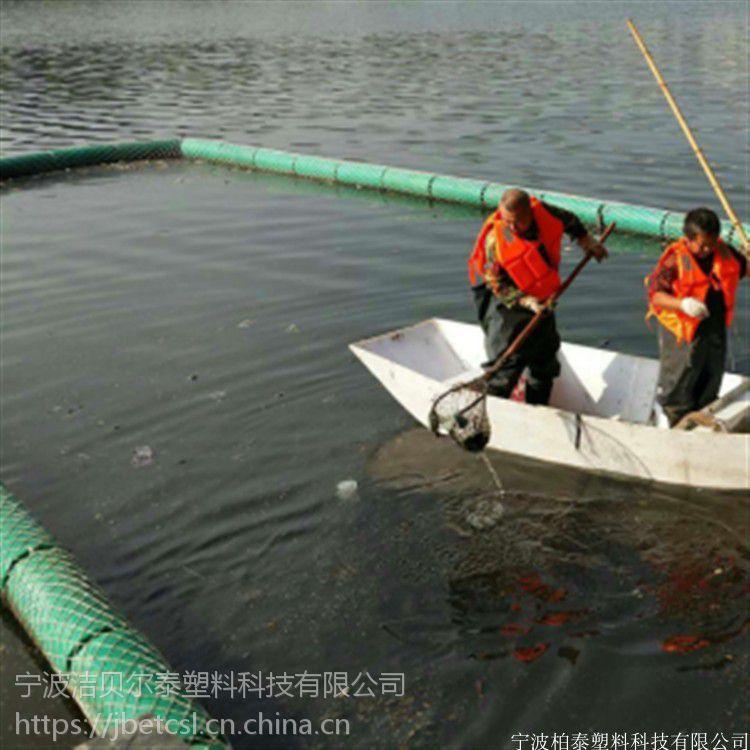 水电站泵站前拦截垃圾水面阻挡垃圾用的浮筒厂家