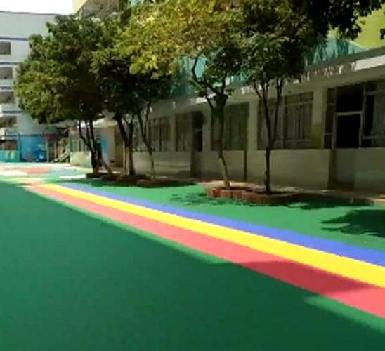 深圳悬浮地板_悬浮地板施工案例_福海幼儿园悬浮地板安装