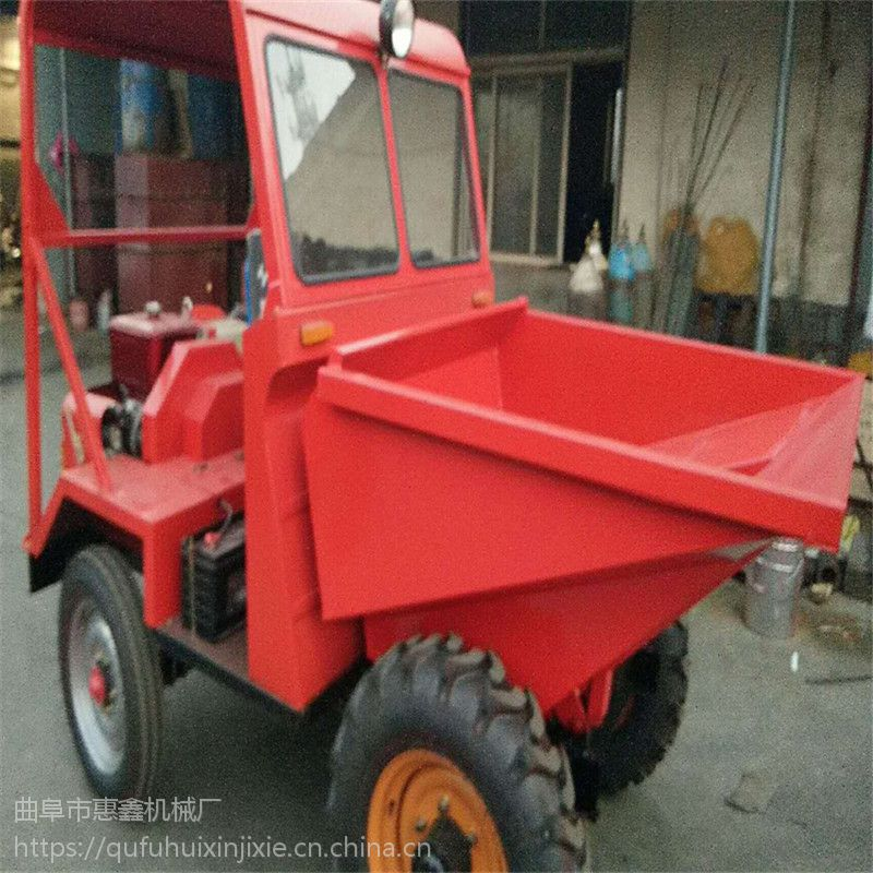 矿山专用的前卸式翻斗车 动力大的四轮车 漳州大量销售载重蹦蹦车