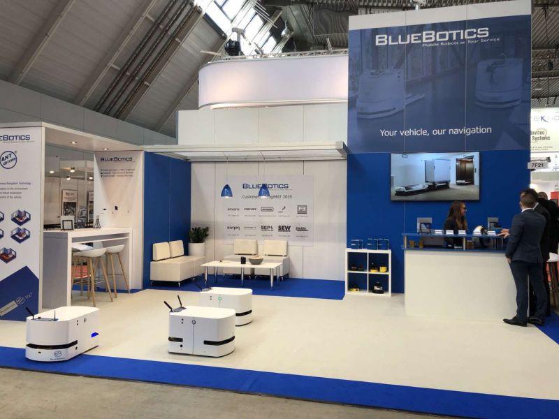 瑞士bluebotics自然SLAM导航室外运行案例!