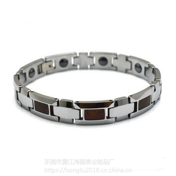 供应正品钨钢手链 十字架情铝 精美潮流时尚手链 抗疲劳饰品 数字造型 东莞手链