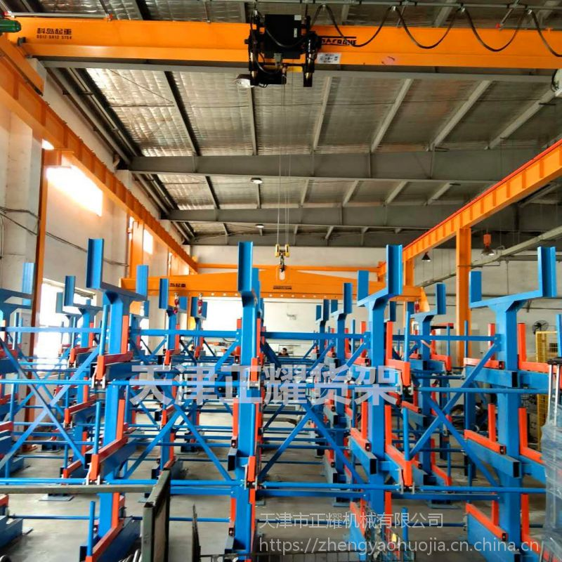江西悬臂伸缩式管材货架报价 钢管存放架
