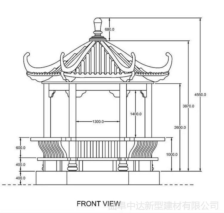 古建彩绘仿古凉亭,水泥仿木景观长廊花架,厂家直销