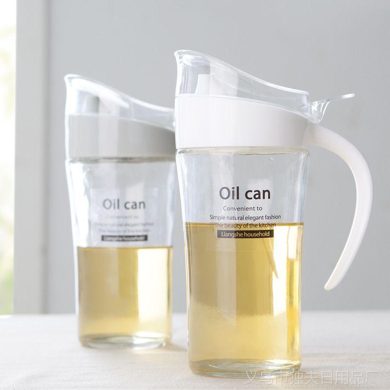 大号装油罐玻璃防漏油壶厨房用品 油瓶酱油瓶醋瓶醋壶500g