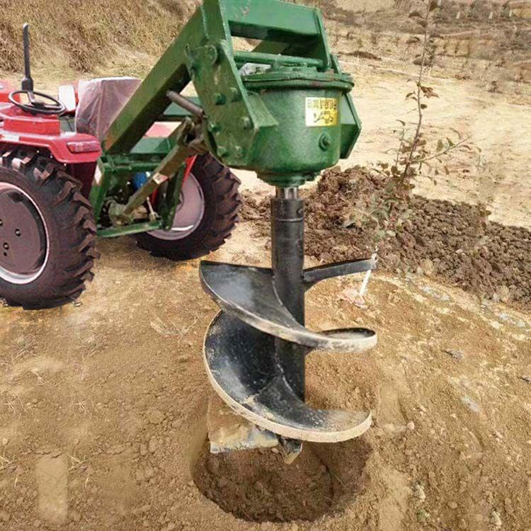 拖拉机植树挖坑机 四轮悬挂式打洞机 大直径栽树坑机