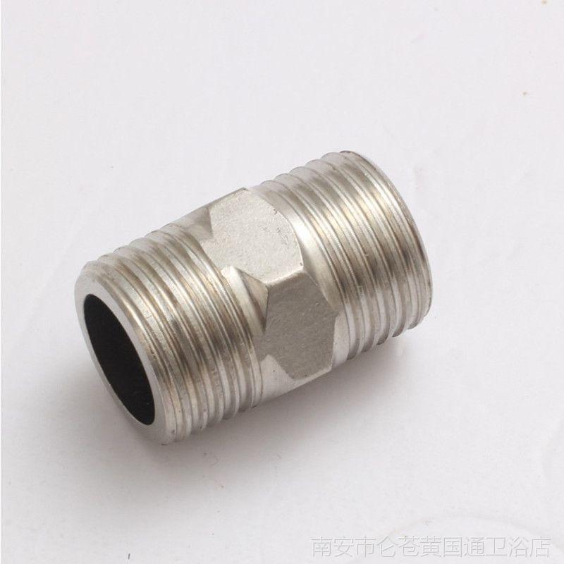 厂家直销 批发不锈钢对丝 4分外牙 1/2 不锈钢接头