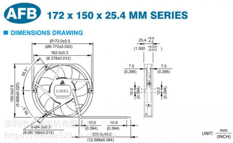 台达 散热风扇 AFB1524L 24V 2400转