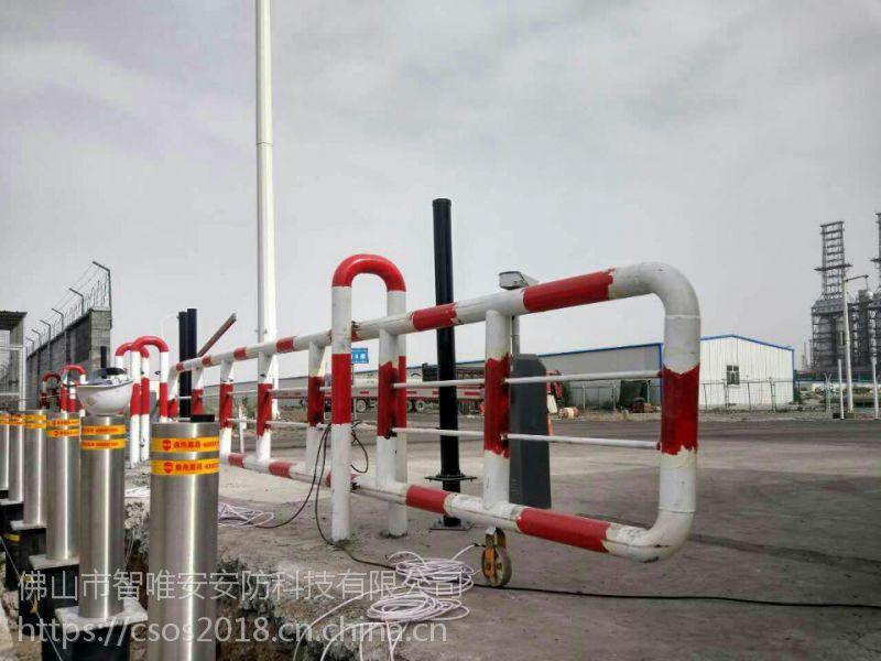 安徽黄山景区液压升降柱,304不锈钢埋地遥控升降路桩