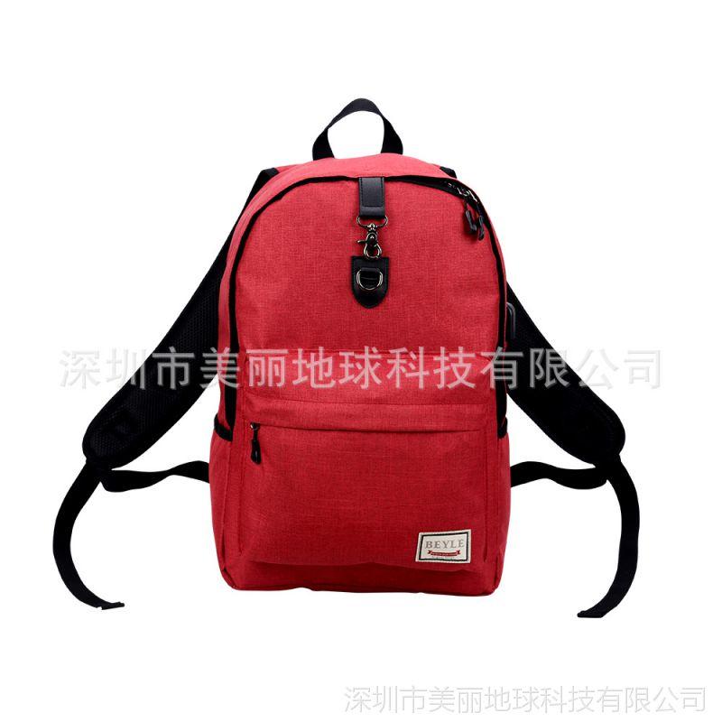 深圳双肩包usb充电防盗包新款旅行包帆布双肩电脑包男士休闲背包