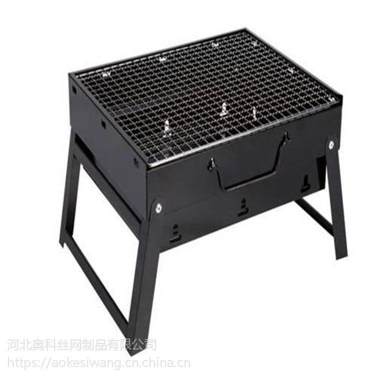 奥科厂家生产韩式圆形铜网不粘烧烤网 不锈钢轧花烧烤网片可加工定做