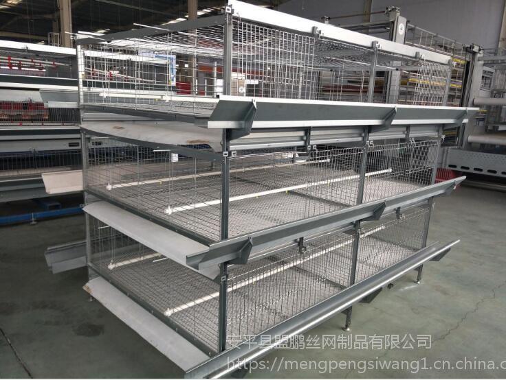 出口标准热镀锌肉鸡笼,三层立式鸡笼,配件厂家直销