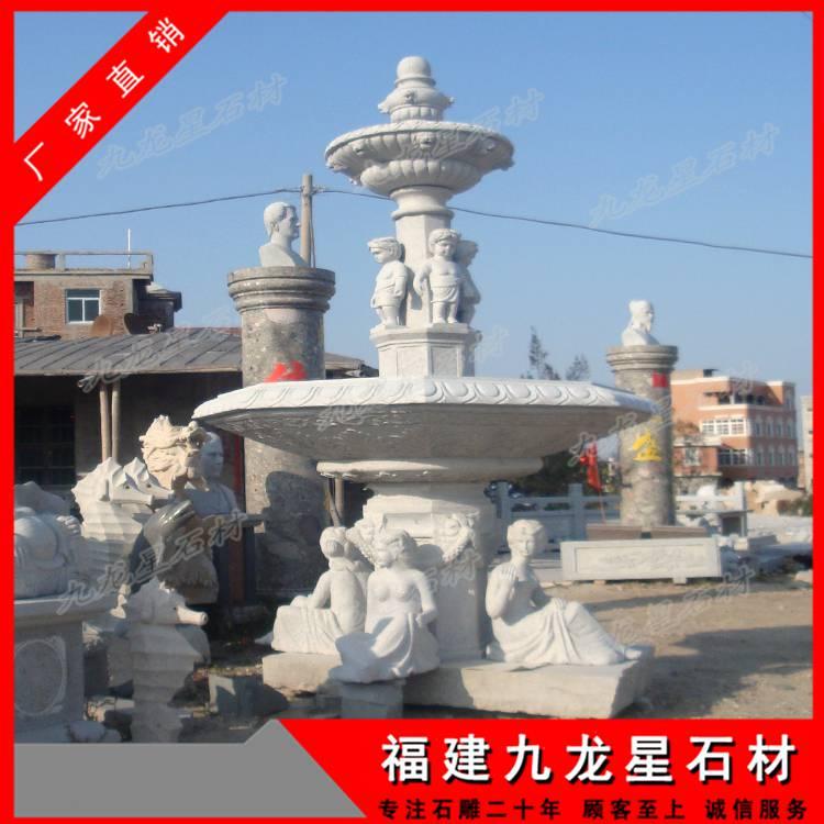 欧式水景喷泉 石雕水钵价格 花岗岩雕刻