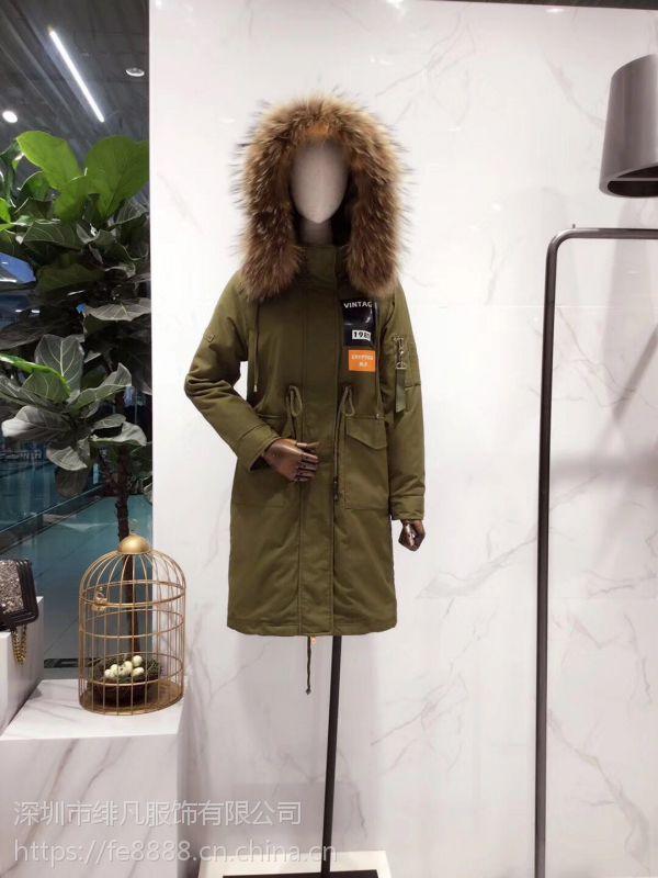 广州服装尾货市场哪里批发太平鸟品牌女装折扣剪标衣服货源