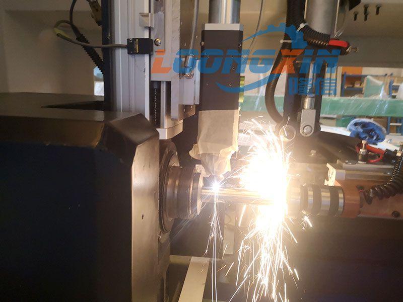 工厂实拍无人化全自动激光切管机高速切割圆管