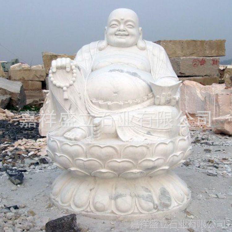 供应花岗岩石雕佛像 汉白玉大理石弥勒佛像 石头坐佛雕像