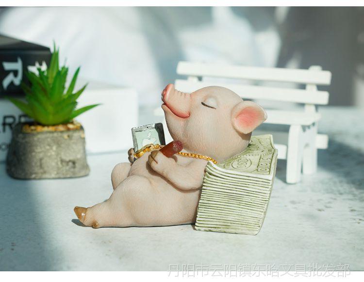 防撞贴_广东广州桌面摆件小猪可爱仿真动物摆件家居装饰品生日礼物 ...