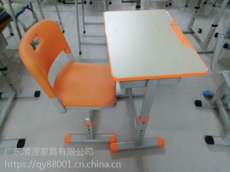 【惠州】单人升降课桌椅-课桌椅批发-学生课桌椅生产厂家-广东清源家具有限公司