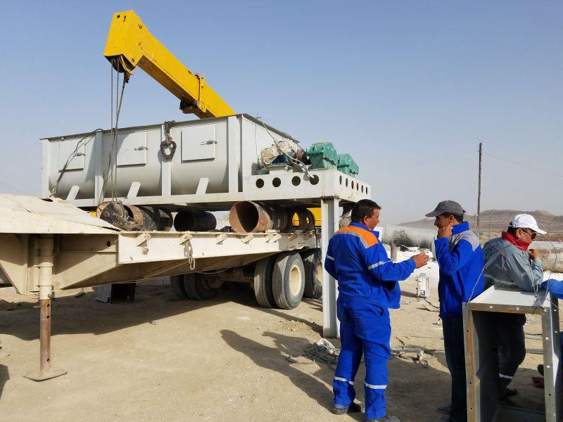洛阳钙丰工贸氢氧化钙设备安装现场