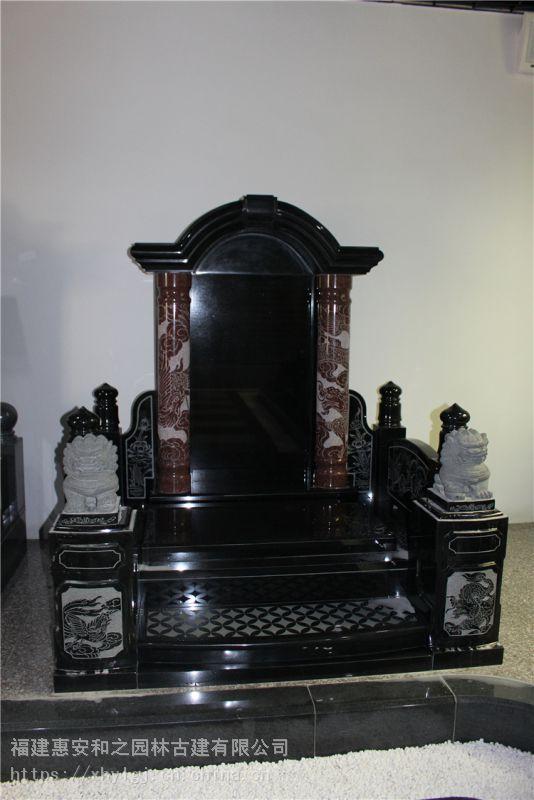 陵园传统墓碑款式 民间公墓 优质山西黑墓碑批发