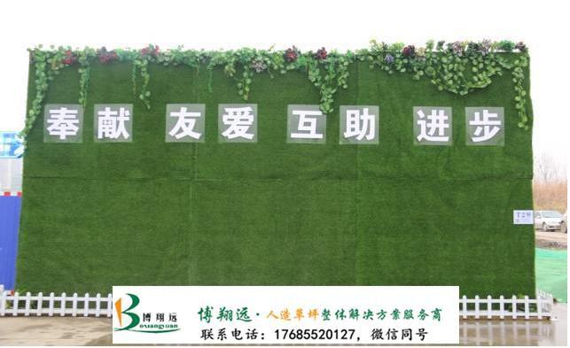围挡上面的假草皮(案例:商丘、宁安)