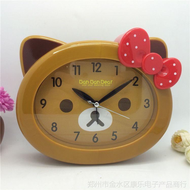 奔时2084系列彩色动物坐挂闹钟可爱卡通钟精品礼品批发