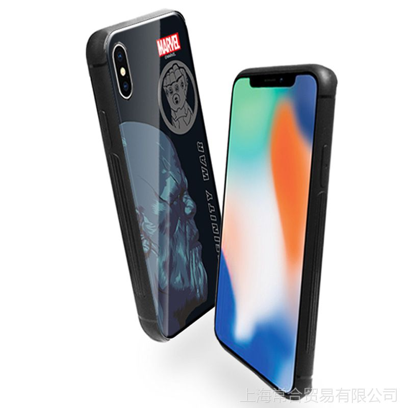 【韩国正品钢铁侠苹果X玻璃壳创意钢化iPhon