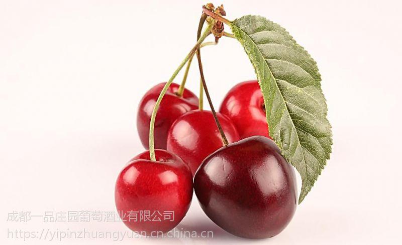 成都一品庄园自酿发酵型樱桃酒纯原浆无勾兑