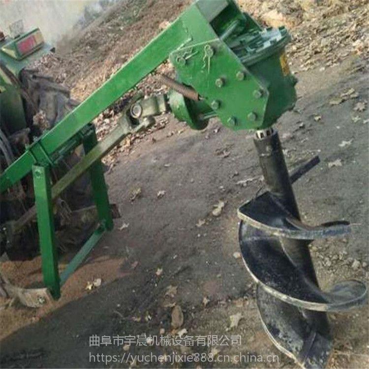 湖南植树挖眼机 多功能拖拉机挖坑机 拖拉机带的打坑机价格
