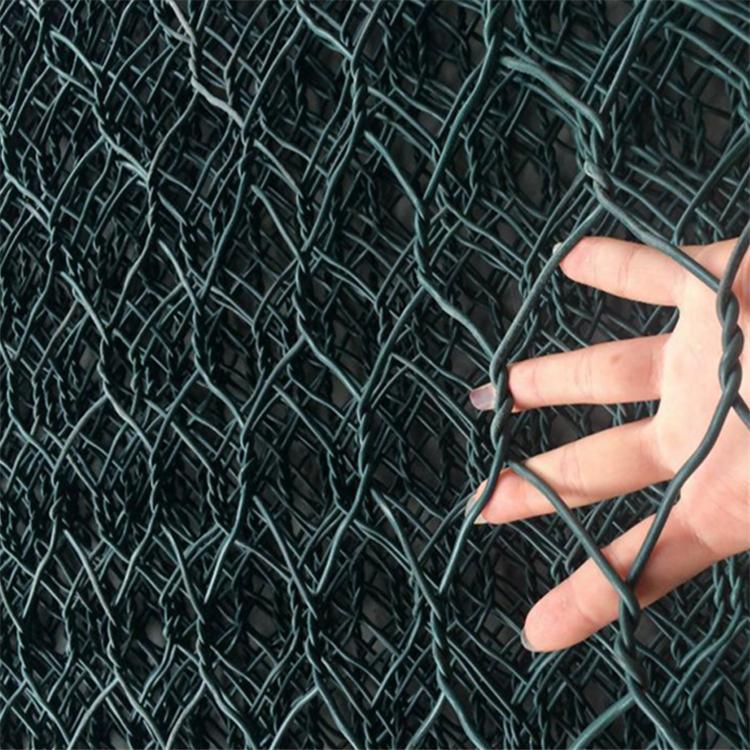 墨绿色覆塑六角网  专业生产绿色固滨笼  防腐蚀