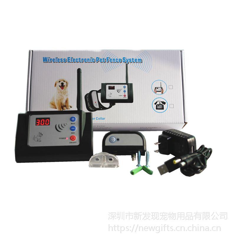 ***新款OEM宠物无线电子围栏可充电防水训练器TPU夜间反光项圈882C