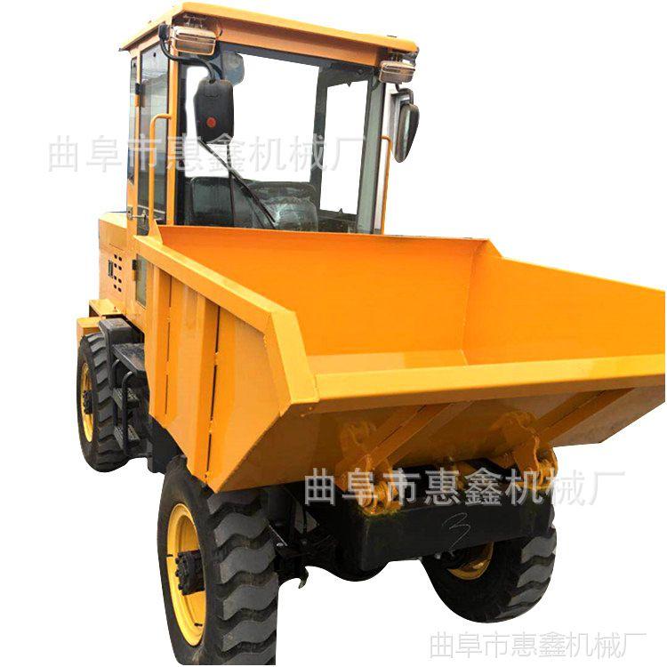 强劲有利柴油翻斗车 施工专用自卸四轮车 操作灵活的柴油翻斗车