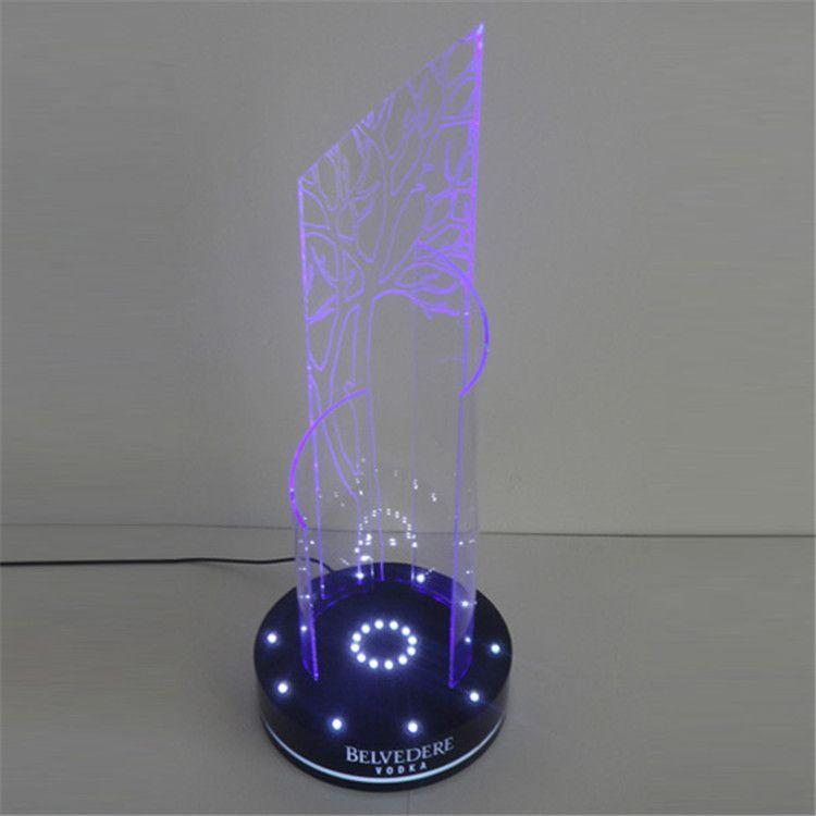 亚克力LED发光酒瓶陈列架 有机玻璃亚克力