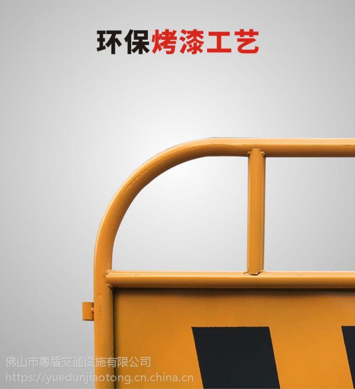 佛山厂家 粤盾交通市政护栏铁制弯角铁马安全围栏黄黑铁马隔离栏(图4)