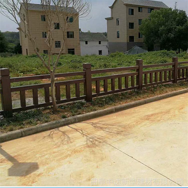 供应阜阳混凝土仿石护栏 河堤桥梁仿树皮栏杆厂家
