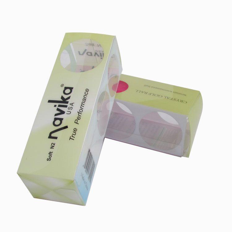 高尔夫球包装盒透明塑料盒定做pet折盒环保 pet盒子磨砂盒