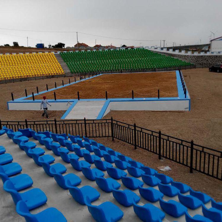 赛马场高靠背固定水泥台阶座椅