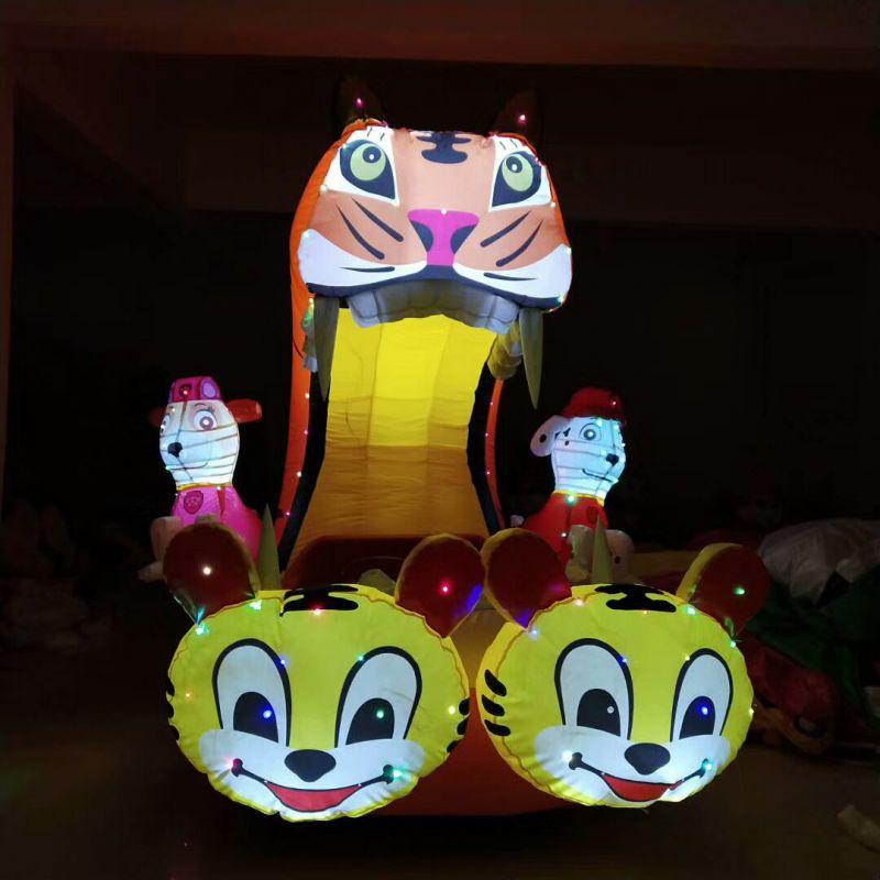 广场儿童充气电瓶车卡通动物造型车车