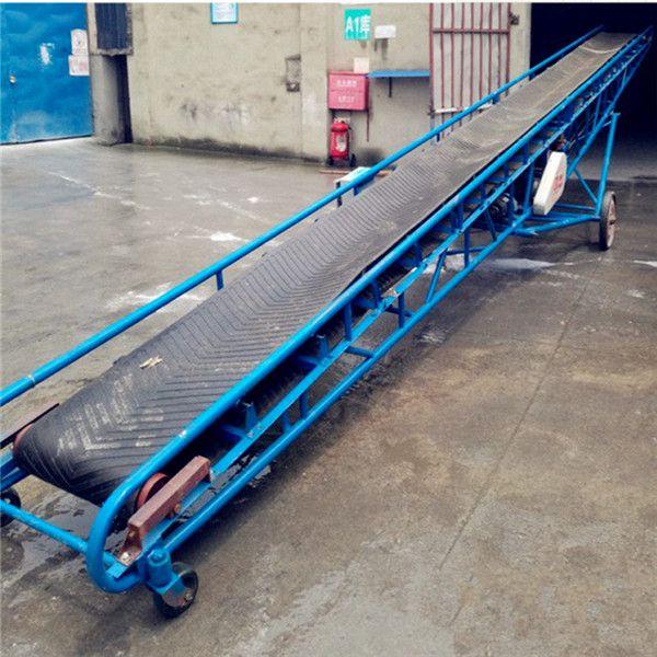 宜昌防滑爬坡挡边输送机 不锈钢防腐电动升降皮带机