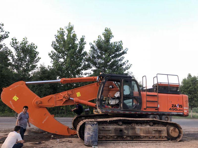 日立EX450-5挖掘机岩石臂工作视频